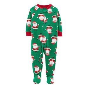 Santa Holiday fleece pajama 12 month child of mine